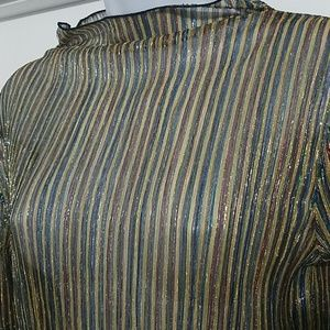 Urban Outfitter Shear Loose Neck Long Sleeve Shirt